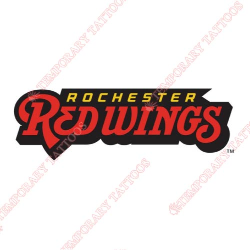 Rochester Red Wings Customize Temporary Tattoos Stickers NO.8005