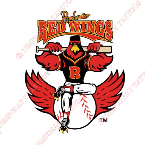 Rochester Red Wings Customize Temporary Tattoos Stickers NO.8008