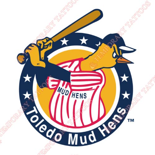 Toledo Mud Hens Customize Temporary Tattoos Stickers NO.8033
