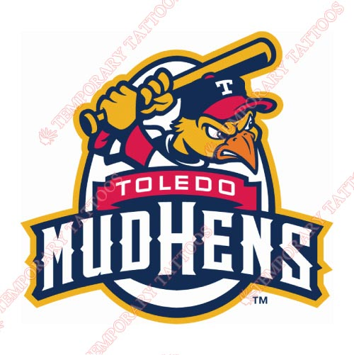 Toledo Mud Hens Customize Temporary Tattoos Stickers NO.8034
