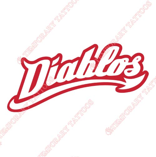 Mexico Diablos Rojos Customize Temporary Tattoos Stickers NO.8045