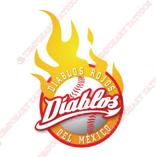 Mexico Diablos Rojos Customize Temporary Tattoos Stickers NO.8047