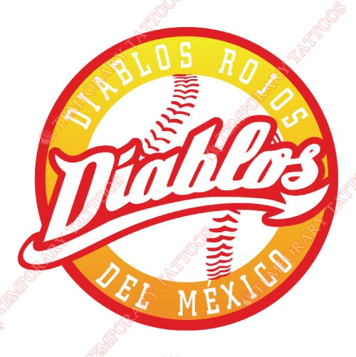 Mexico Diablos Rojos Customize Temporary Tattoos Stickers NO.8048