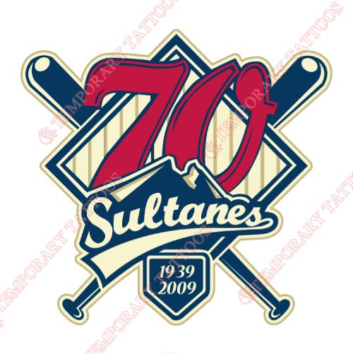 Monterrey Sultanes Customize Temporary Tattoos Stickers NO.8052