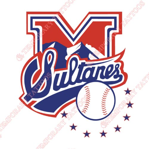 Monterrey Sultanes Customize Temporary Tattoos Stickers NO.8053