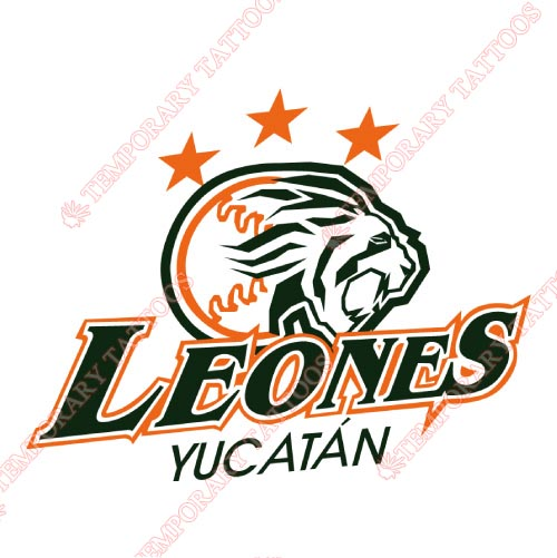 Yucatan Leones Customize Temporary Tattoos Stickers NO.8063