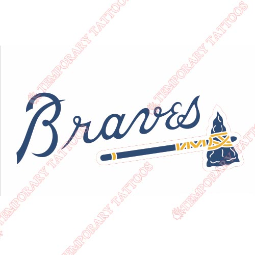 Atlanta Braves Customize Temporary Tattoos Stickers NO.1409