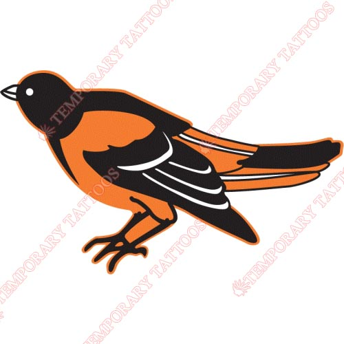 Baltimore Orioles Customize Temporary Tattoos Stickers NO.1419