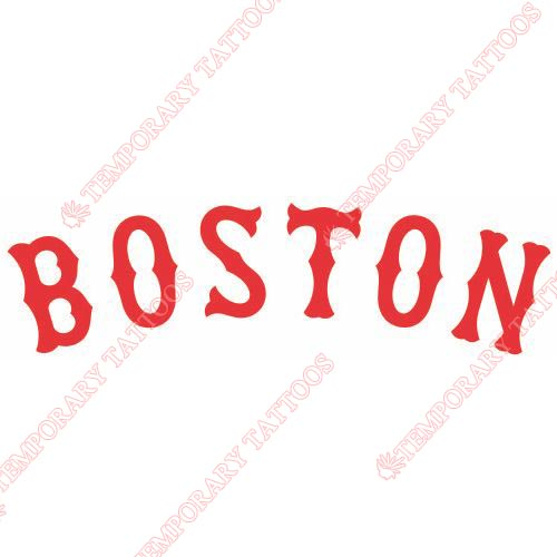 Boston Red Sox Customize Temporary Tattoos Stickers NO.1449