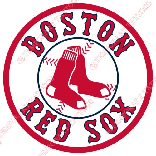 Boston Red Sox Customize Temporary Tattoos Stickers NO.1454