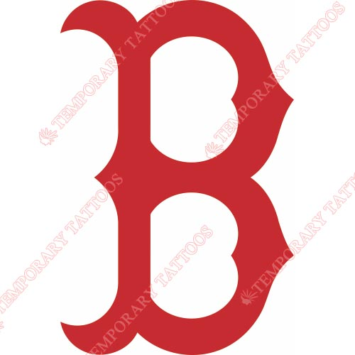 Boston Red Sox Customize Temporary Tattoos Stickers NO.1456