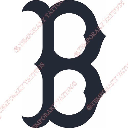 Boston Red Sox Customize Temporary Tattoos Stickers NO.1457