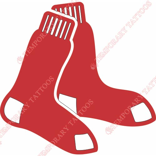 Boston Red Sox Customize Temporary Tattoos Stickers NO.1458