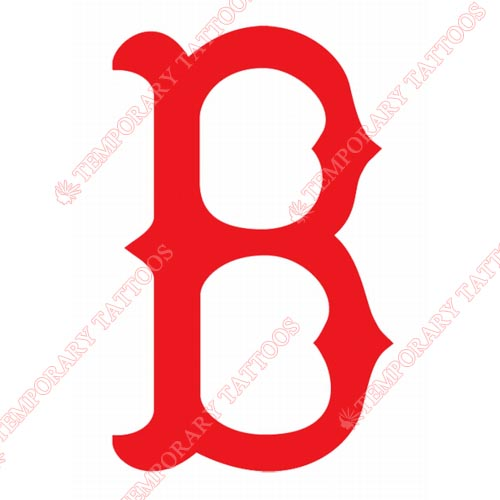 Boston Red Sox Customize Temporary Tattoos Stickers NO.1460