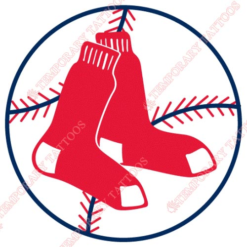 Boston Red Sox Customize Temporary Tattoos Stickers NO.1461