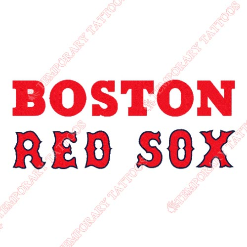 Boston Red Sox Customize Temporary Tattoos Stickers NO.1467