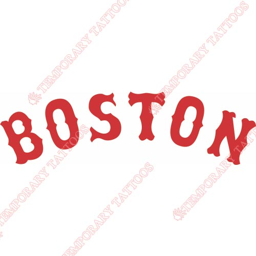 Boston Red Sox Customize Temporary Tattoos Stickers NO.1470