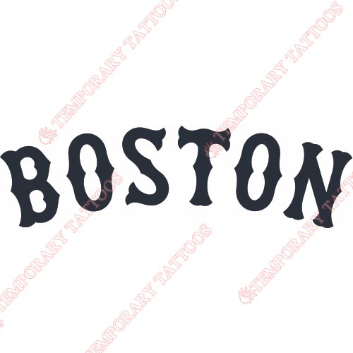 Boston Red Sox Customize Temporary Tattoos Stickers NO.1473