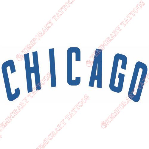 Chicago Cubs Customize Temporary Tattoos Stickers NO.1476