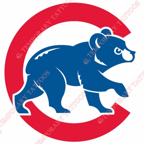 Chicago Cubs Customize Temporary Tattoos Stickers NO.1480