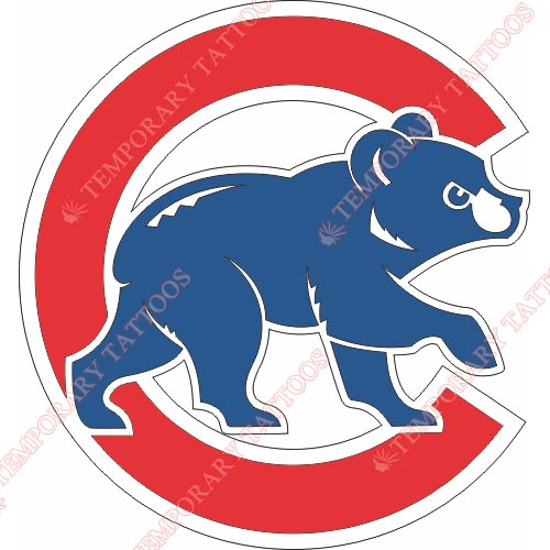Chicago Cubs Customize Temporary Tattoos Stickers NO.1482