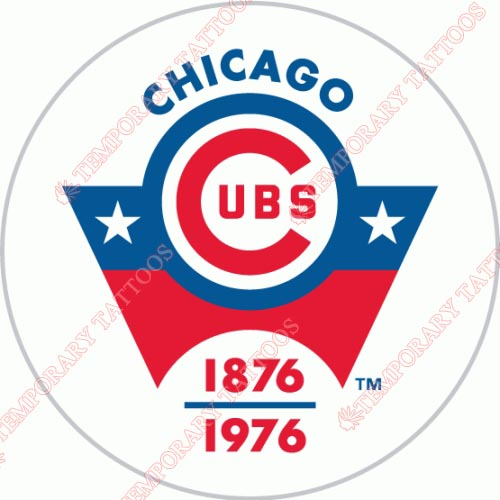 Chicago Cubs Customize Temporary Tattoos Stickers NO.1485