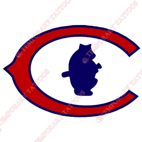 Chicago Cubs Customize Temporary Tattoos Stickers NO.1487