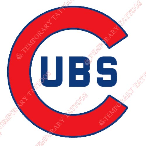 Chicago Cubs Customize Temporary Tattoos Stickers NO.1488