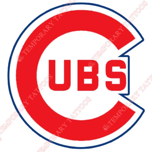 Chicago Cubs Customize Temporary Tattoos Stickers NO.1489