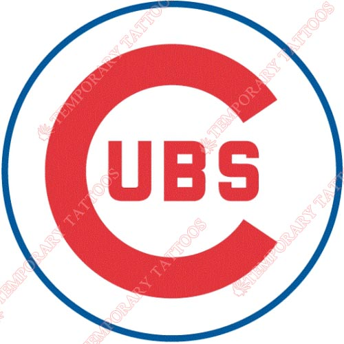 Chicago Cubs Customize Temporary Tattoos Stickers NO.1490