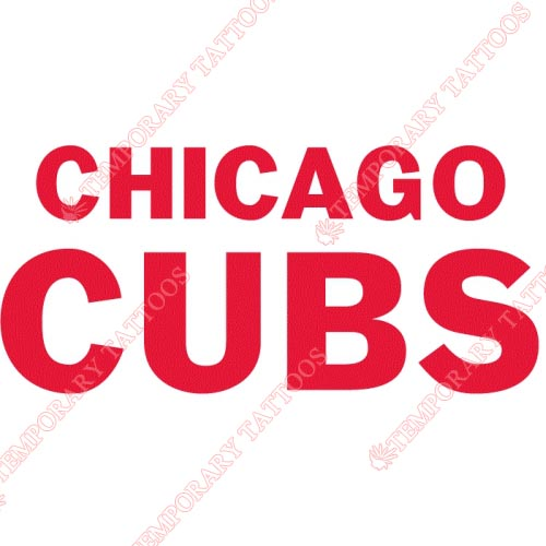 Chicago Cubs Customize Temporary Tattoos Stickers NO.1491
