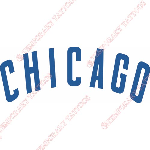 Chicago Cubs Customize Temporary Tattoos Stickers NO.1492