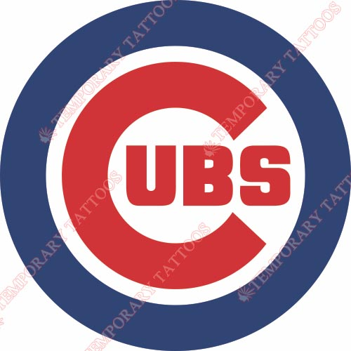 Chicago Cubs Customize Temporary Tattoos Stickers NO.1493