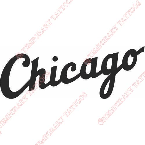 Chicago White Sox Customize Temporary Tattoos Stickers NO.1494