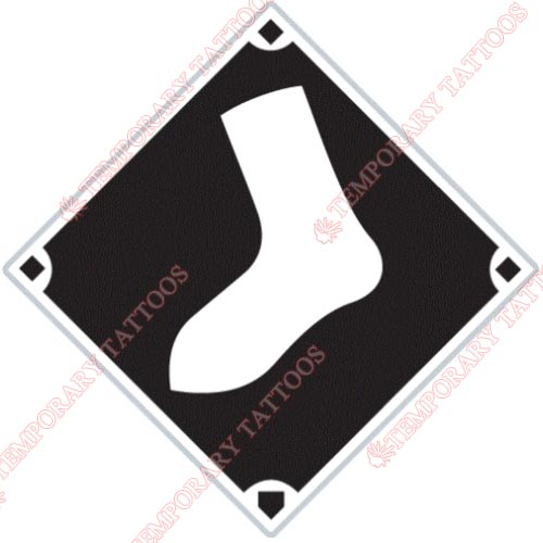 Chicago White Sox Customize Temporary Tattoos Stickers NO.1500