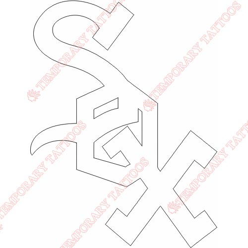 Chicago White Sox Customize Temporary Tattoos Stickers NO.1501