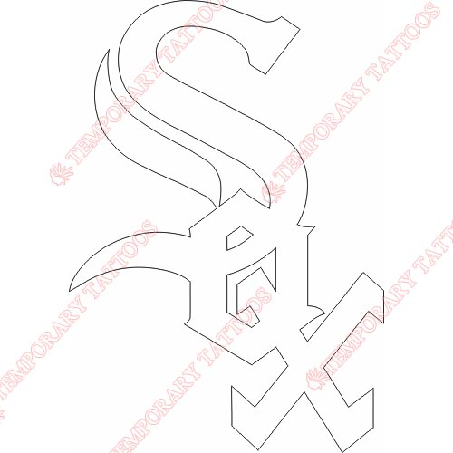 Chicago White Sox Customize Temporary Tattoos Stickers NO.1503