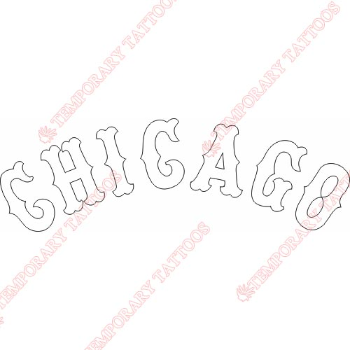 Chicago White Sox Customize Temporary Tattoos Stickers NO.1511
