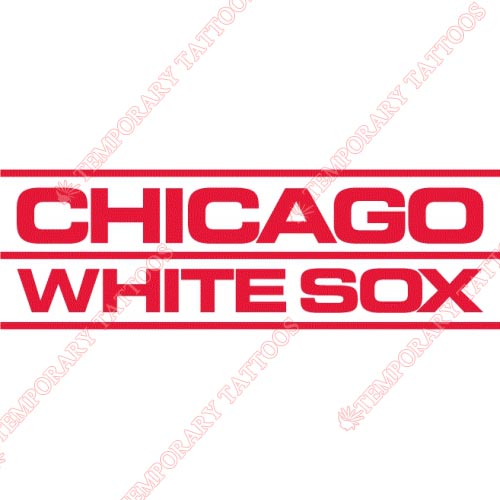 Chicago White Sox Customize Temporary Tattoos Stickers NO.1512