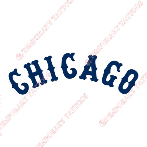 Chicago White Sox Customize Temporary Tattoos Stickers NO.1513