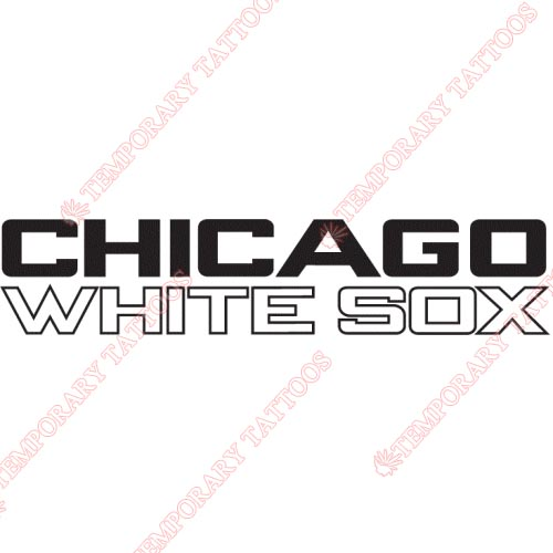 Chicago White Sox Customize Temporary Tattoos Stickers NO.1515