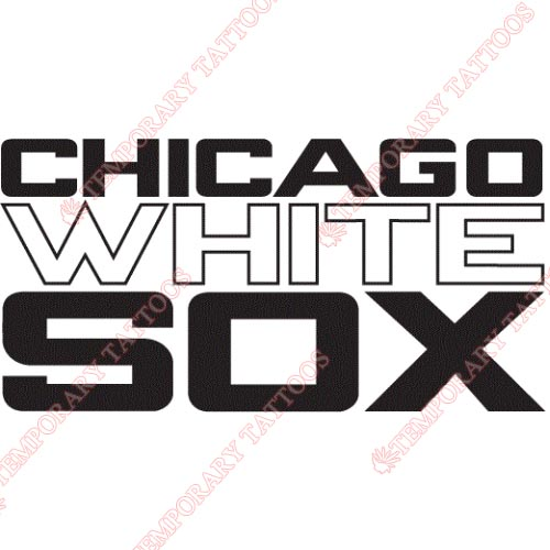 Chicago White Sox Customize Temporary Tattoos Stickers NO.1516
