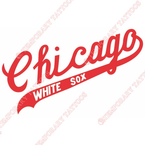 Chicago White Sox Customize Temporary Tattoos Stickers NO.1520