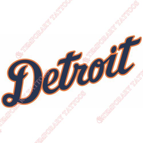 Detroit Tigers Customize Temporary Tattoos Stickers NO.1574