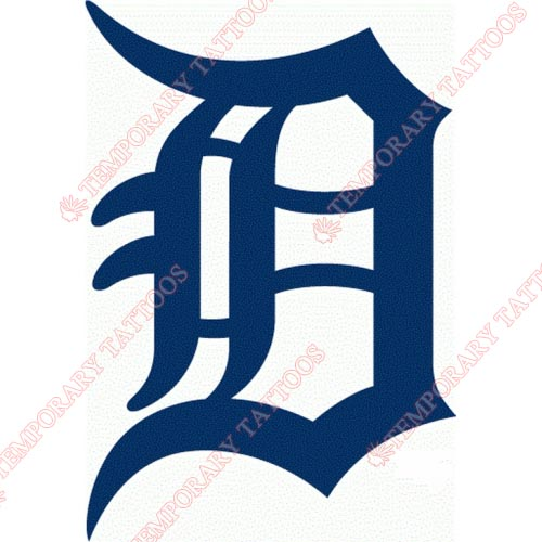 Detroit Tigers Customize Temporary Tattoos Stickers NO.1575