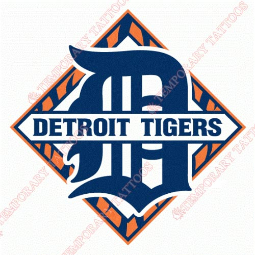 Detroit Tigers Customize Temporary Tattoos Stickers NO.1577