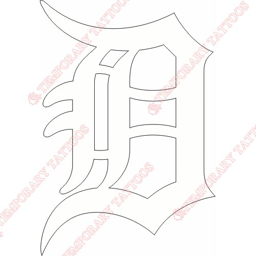 Detroit Tigers Customize Temporary Tattoos Stickers NO.1578