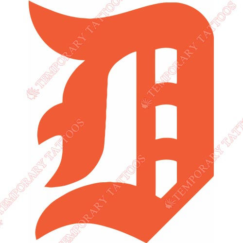 Detroit Tigers Customize Temporary Tattoos Stickers NO.1579
