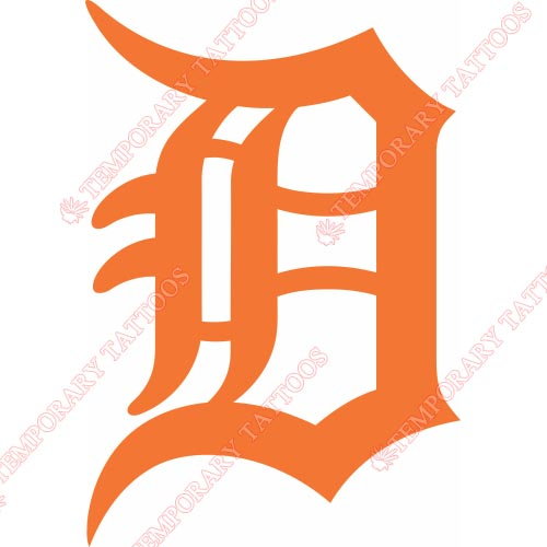 Detroit Tigers Customize Temporary Tattoos Stickers NO.1580