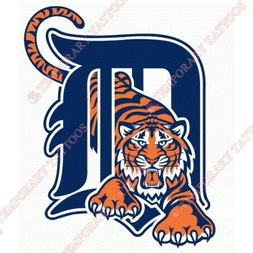 Detroit Tigers Customize Temporary Tattoos Stickers NO.1581